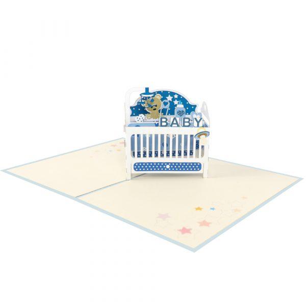 baby-cot-pop-up-cards-3d-cards-manufacturer-front-blue