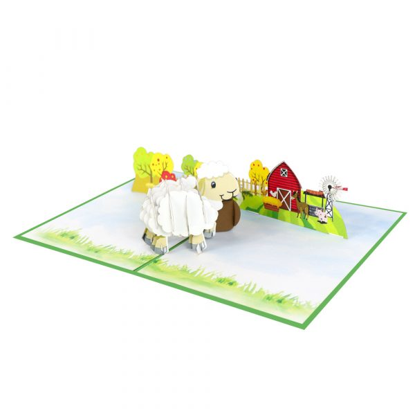 baby-sheep-pop-up-cards-3d-cards-manufacturer-front