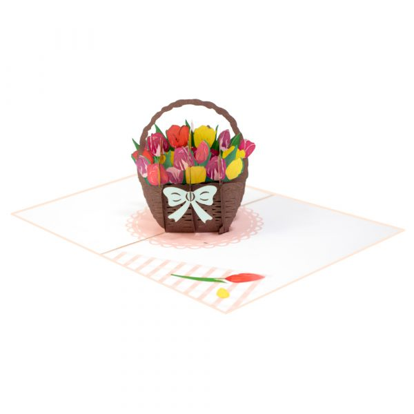 mixed tulip pop up card-manufacturer 3d cards supplier-overview