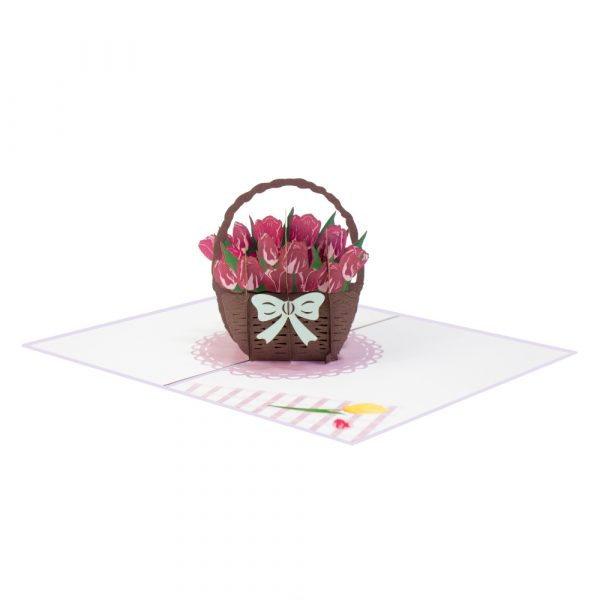 purple tulip pop up card-manufacturer 3d cards supplier-side2