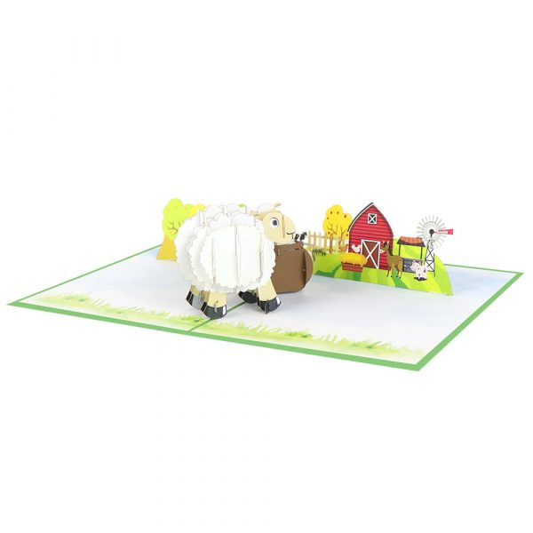 sheep-pop-up-cards-3d-cards-manufacturer-front-white