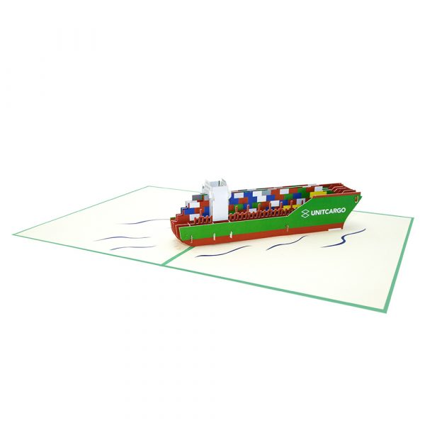 Container Ship Pop Up Card Overview