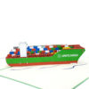 Container Ship Pop up cards detail