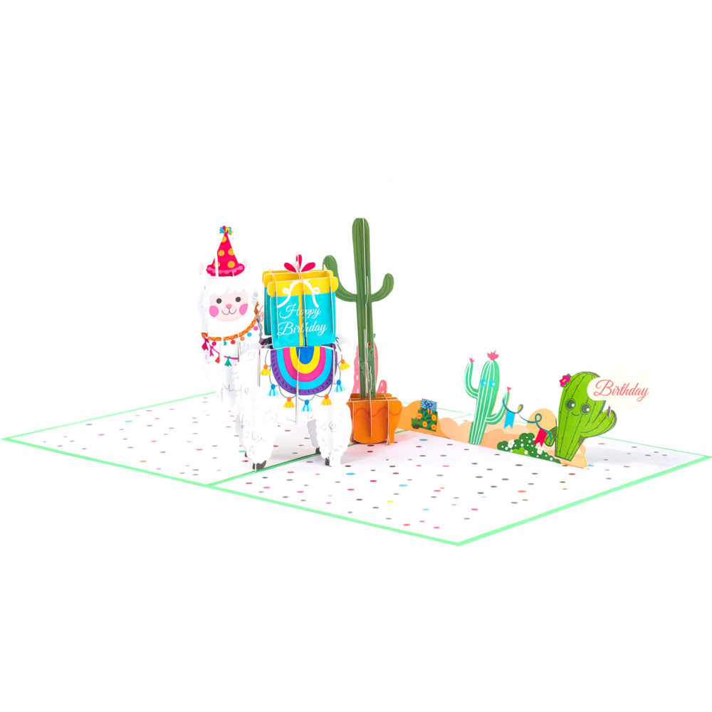 Happy-Birthday-Llama-Pop-Up-Card-Overview-2-BG141-just-because-pop-up-card-pop-up-card-wholesale-pop-up-card-supplies.jpg