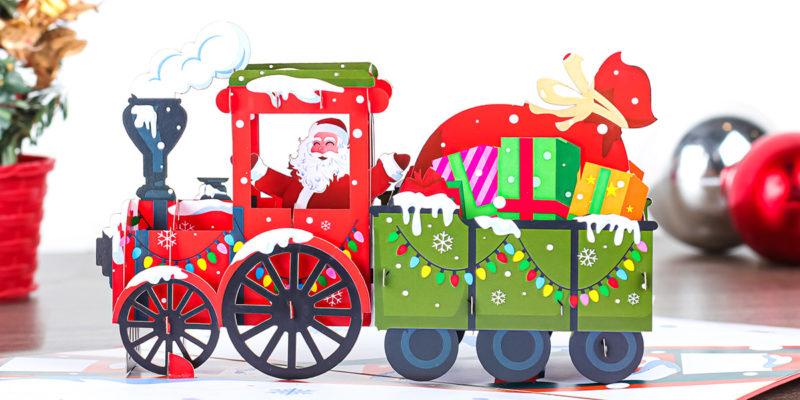 handmade pop up Christmas cards